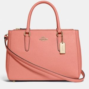 COACH Surrey Carryall Light Coral/Gold